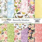 ScrapBoys Butterfly Meadow paperpad 24 vl+cut out elements-DZ 15.2 op 15.2cm
