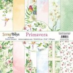 ScrapBoys Primavera paperpad 24 vl+cut out elements-DZ 15.2 op 15.2cm