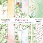 ScrapBoys Primavera paperset 12 vl+cut out elements-DZ 30.5 op 30.5cm