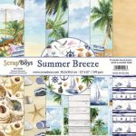 ScrapBoys Summer Breeze paperset 12 vl+cut out elements-DZ 30.5 op 30.5cm