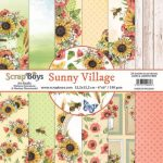 ScrapBoys Sunny Village paperpad 24 vl+cut out elements-DZ 15.2 op 15.2 cm