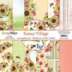ScrapBoys Sunny Village paperset 12 vl+cut out elements-DZ 30.5 op 30.5cm