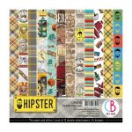 Hipster Double-Sided Paper Pad 15x15 24/Pkg