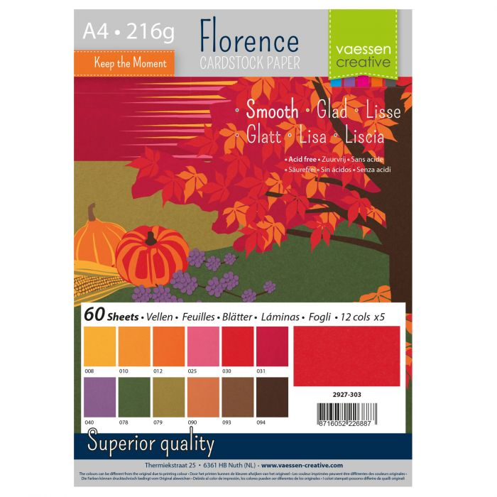 Florence • Cardstock smooth A4 12×5 Autumn