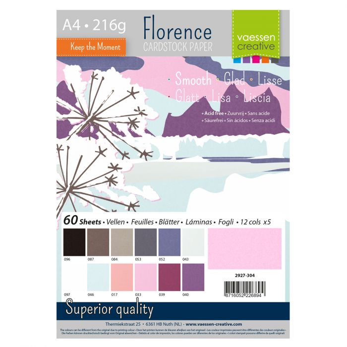 Florence • Cardstock smooth A4 12×5 Winter