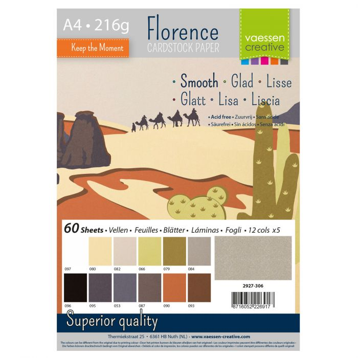 Florence • Cardstock smooth A4 12×5 Earth tones
